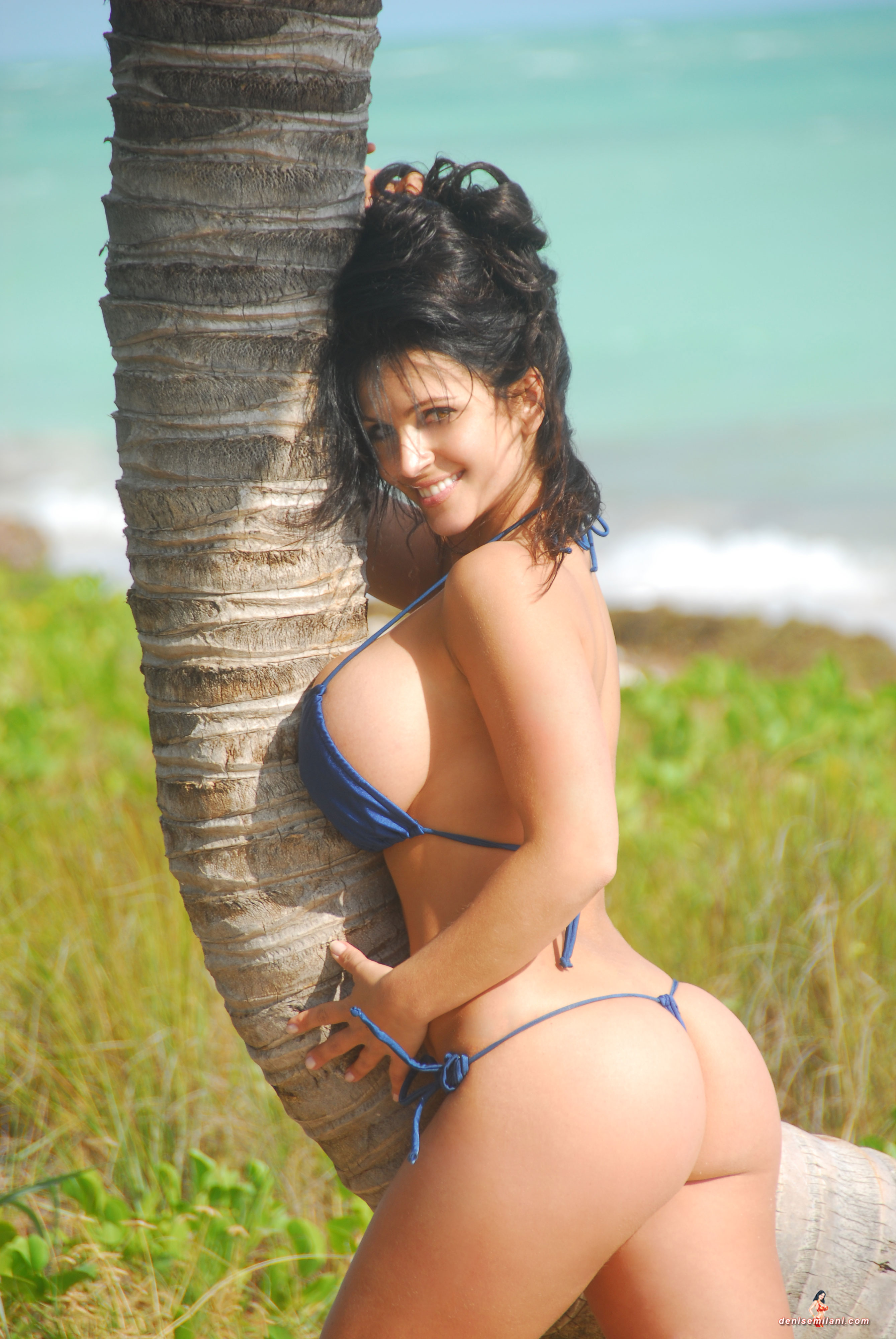 Denise Milani Blue Thong