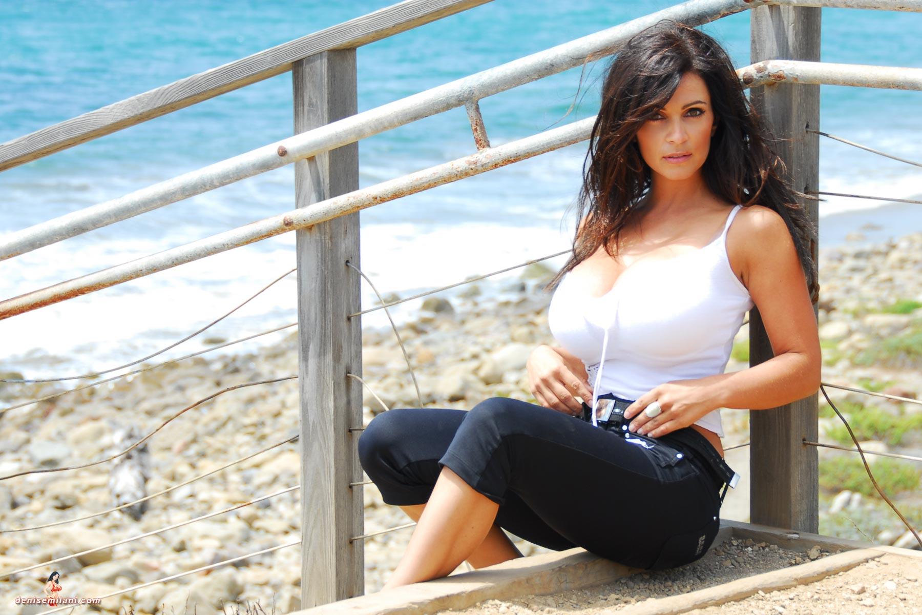 denise milani blue dress - photo #36